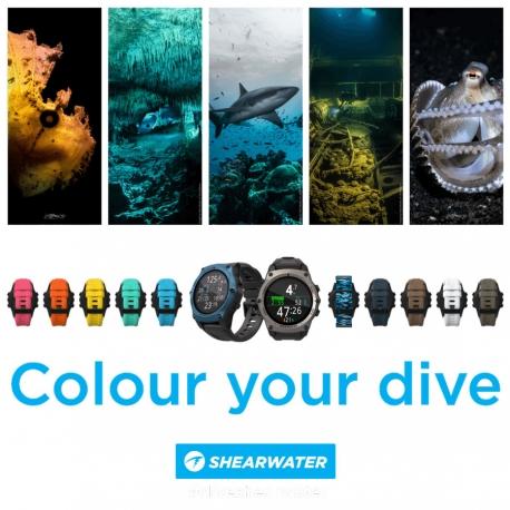 Bracelet Shearwater nouvelles couleurs pour montre ordinateur Teric