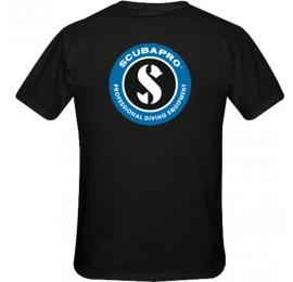 """T -shirt """"SCP-LOGO"""" NOIR Unisexe Scubapro"""