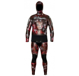 Combinaison Picasso Thermal Skin 7mm Camo Red