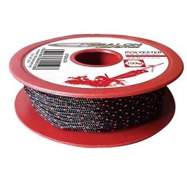 Bobine Polyester Epsealon 50m - Noir/Rouge 1.6mm