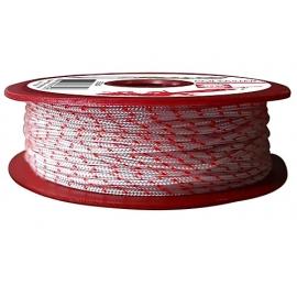 Bobine Polyester Epsealon 50m - Blanc/Rouge 1.6mm