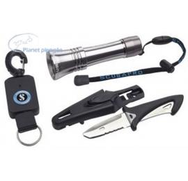 KIT Accessoires Gilets Scubapro Lampe+couteau+rétractateur