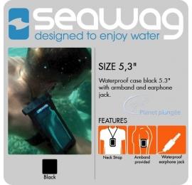 Pochette étanche Seawag pour smartphone + brassard + sortie écouteurs