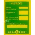 Autocollant étiquette mélange Nitrox Aqua Lung