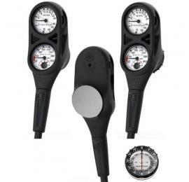 Console Aqualung 3 éléments Manomètre + Compas + profondimètre
