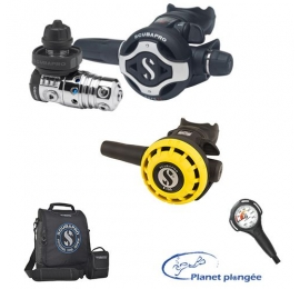 Pack Détendeur Scubapro MK25 EVO/S620 Ti Octopus R195 mano et sac prêt à plonger