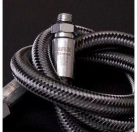 Flexible Moyenne pression 3/8 2.1m noir
