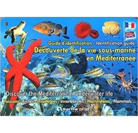 Plaquette immergeable identification des espèces sous-marines de la méditerranée