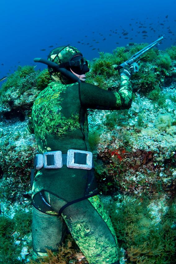 Fucile arpione caccia subacquea